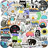 100 Pack Outdoor Stickers I Cute Mountain Waterproof Stickers 100% Vinyl Stickers I Skateboard Stickers, Adventure and Hiking