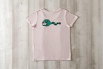 黒猫探偵社【へびネコ】ネコ柄Tシャツ ベビーピンク レディース&ガールズ