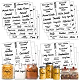 Pantry Labels: 323 Classy Gloss Clear Preprinted Water Resistant Complete Label Set to Organize Storage Containers, Jars & Ca