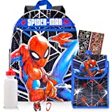 Spiderman Backpack and Lunch Box Set ~ 5-Pc Spider-Man School Supplies Set with Backpack, Lunch Bag, and More (Spiderman Lunc