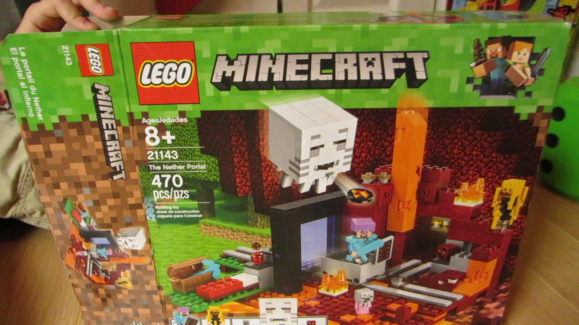 LEGO Minecraft The Nether Portal 10 Building Kit (10 Pieces