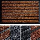 Extra Durable Striped Doormat Outdoor - Rubber Doormat Indoor - Non-Slip Waterproof Doormat Rug (30 x 17) - Back And Front Do