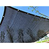 YGS Perfect Sunblock Shade Cloth With Grommets 70% UV 10 ft x 20 ft Black for Plant Cover Greenhouse Barn Kennel Pool Pergola