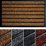 Extra Durable Striped Doormat Outdoor - Rubber Doormat Indoor - Non-Slip Waterproof Doormat Rug (30 x 17) - Back And Front Do