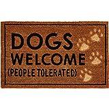 Mud Pie Dogs Welcome Door Mat Coir Doormat