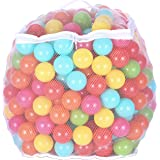 BalanceFrom 2.3-Inch Phthalate Free BPA Free Non-Toxic Crush Proof Play Balls Pit Balls- 6 Bright Colors in Reusable and Dura