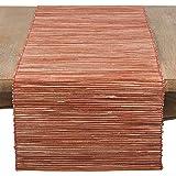 "SARO LIFESTYLE Melaya Collection Nubby Texture Woven Table Runner, 16"" x 72"", Rust"