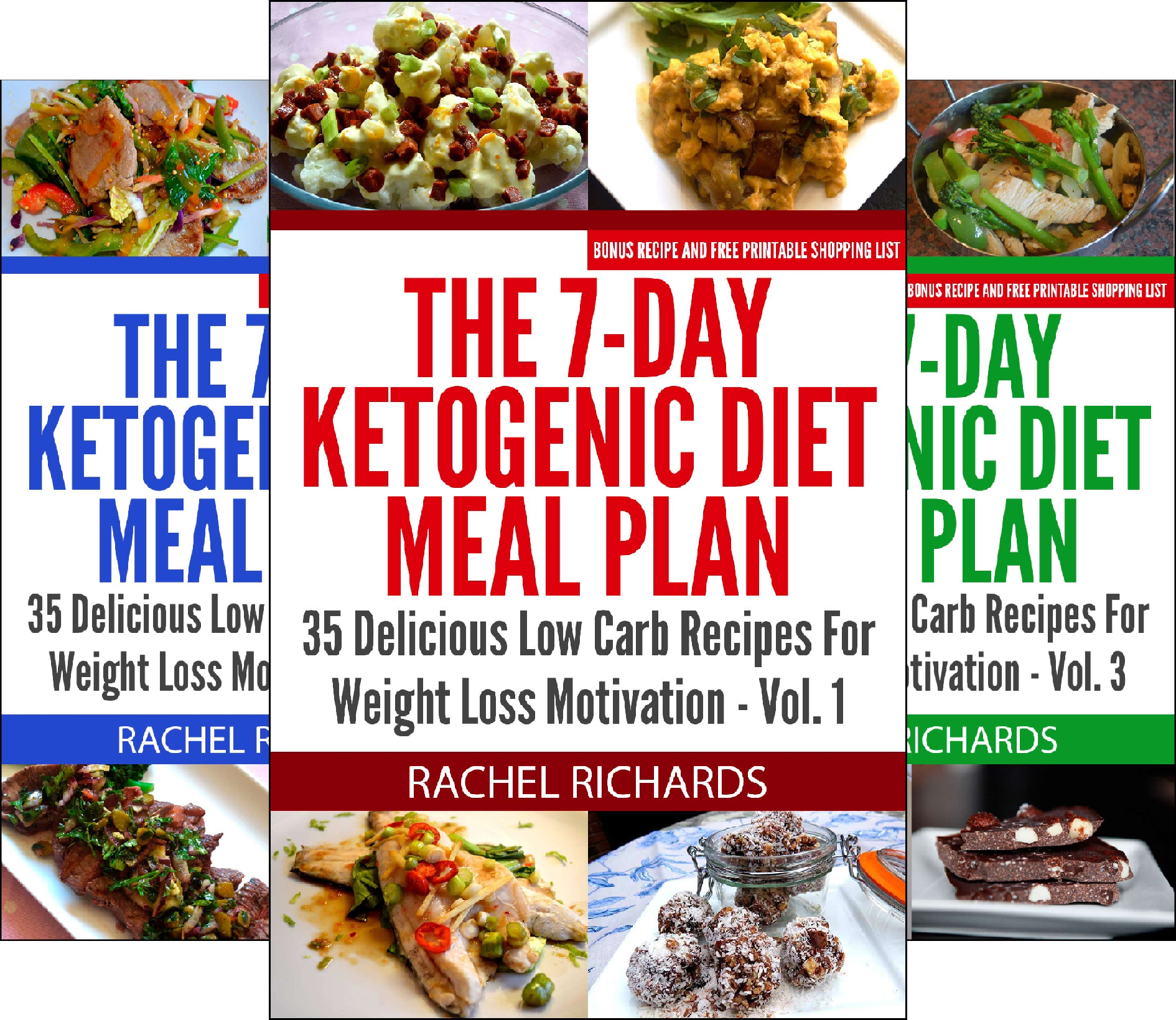 Download The 7-Day Ketogenic Diet Meal Plan (3 Book Series) B00XM16ROM