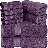 Utopia Towels 8 Piece Towel Set, 700 GSM, 2 Bath Towels, 2 Hand Towels and 4 Washcloths, Plum