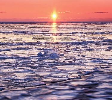 北海道  iPhone/Androidスマホ壁紙(960×854)-1 - 流氷を赤く染める朝日