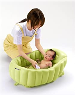 赤ちゃんにやさしい やわらかクッションのベビーバス