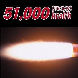 強火力51,000kcal/hで雑草を焼却