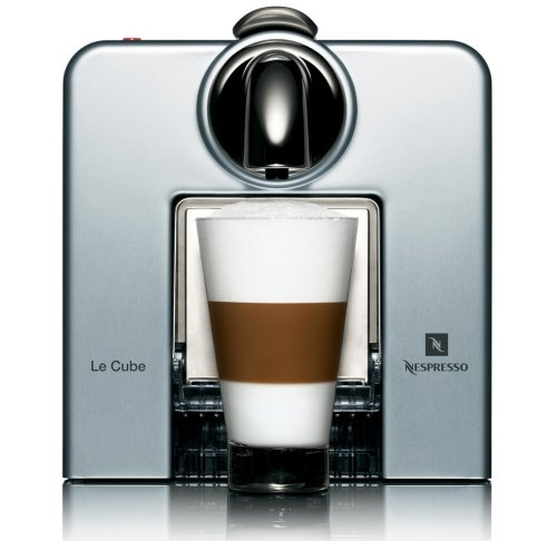 Nespresso ル・キューブ アルミニウム [オリジナルカップ&ソーサー、お試しカプセル付き] D185AL
