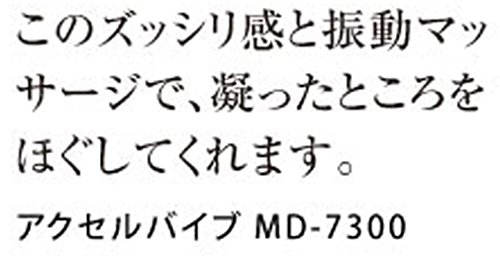 スライヴ コンパクトマッサージャー アクセルバイブ ブラック MD-7300