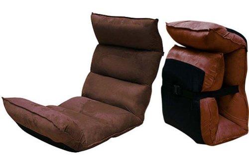 低反発座椅子 楽チェ RAKUCHE ブラウン やさしく包み込まれるフィット感 折り畳んでコンパクトに収納 18995