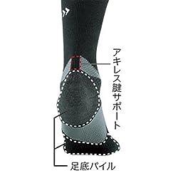 アキレス腱をサポート・衝撃を緩和する足底パイル