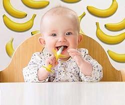 かわいいバナナの形状で歯ぐきをやさしくマッサージ!