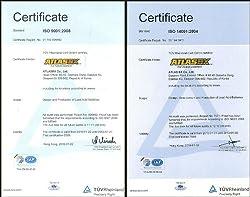 国際標準化機構 ISO 9001/14001 取得