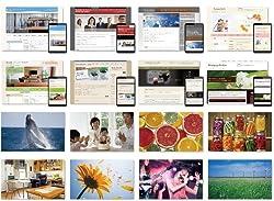高品質テンプレート163種&高品質写真500種