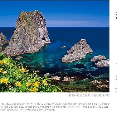 北海道 iPad壁紙 or ランドスケープ用スマホ壁紙(1:1)-1 - 初夏の島武意海岸