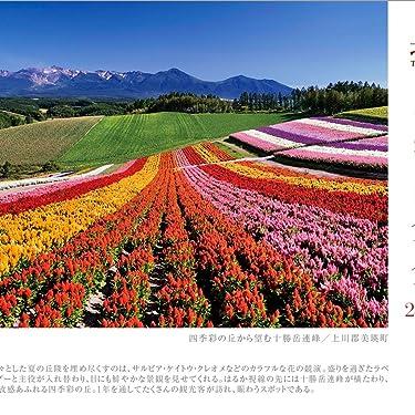 北海道 iPad壁紙 or ランドスケープ用スマホ壁紙(1:1)-1 - 四季彩の丘から望む十勝岳連峰