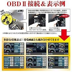 OBDⅡ情報表示に対応!