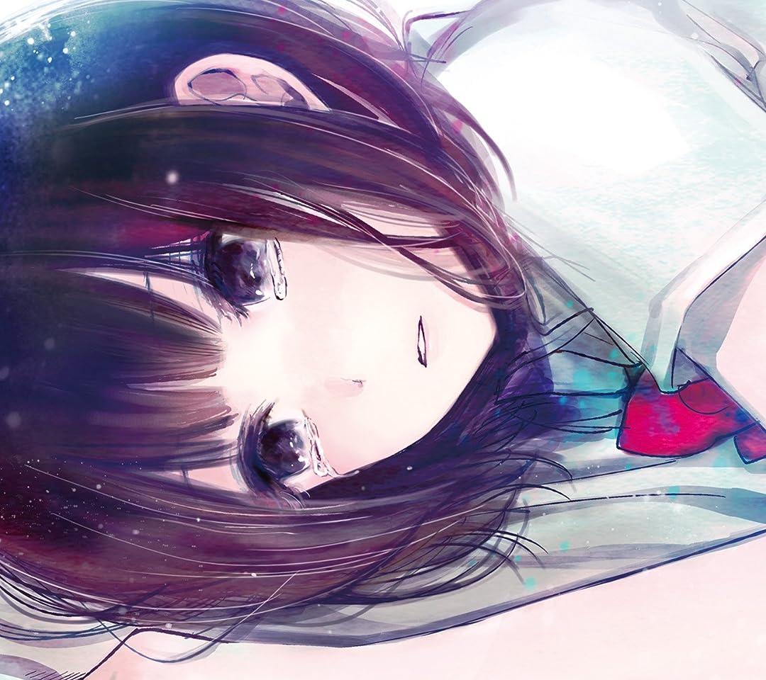 切ない表情で目に涙を浮かべるカラーの綺麗な安楽岡花火