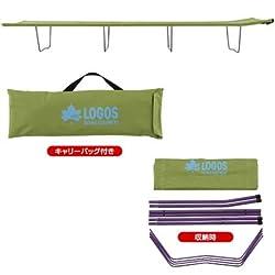 コンパクト収納可能なキャンプベッド