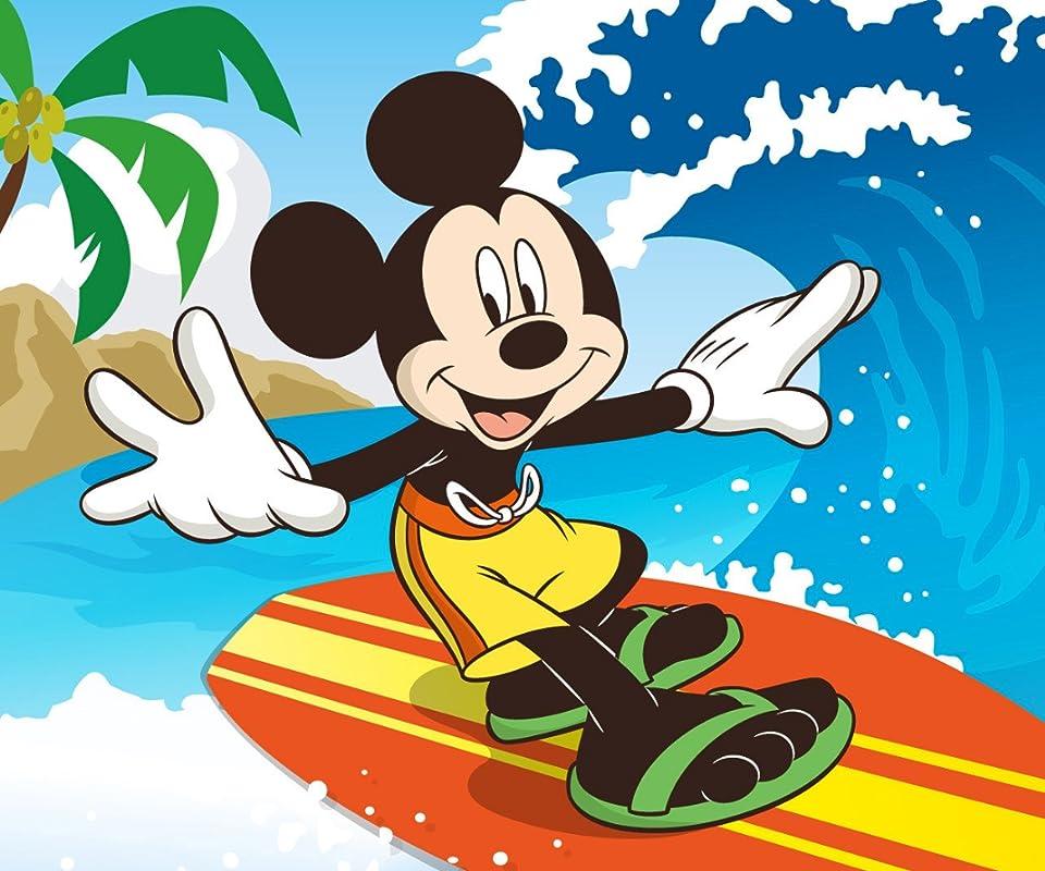 ディズニー サーフィンをするミッキー Android960800待ち受け 画像