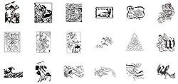日本古来のデザイン図案を簡単・手軽に使用できます