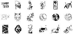 日本の伝統デザインも数多く収録