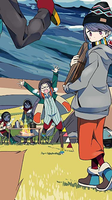 ゆるキャン△  iPhone/Androidスマホ壁紙(640×1136)-1 - 犬山 あおい(いぬやま あおい),斉藤 恵那(さいとう えな),大垣 千明(おおがき ちあき),志摩 リン(しま リン)