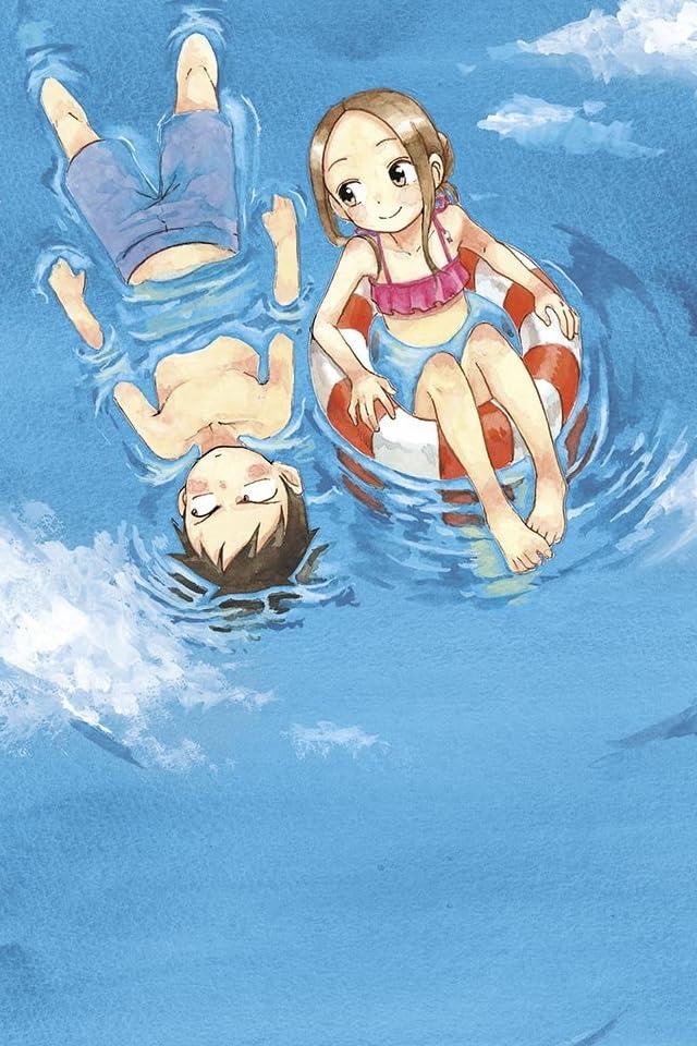 二人で海に浮いているからかい上手の高木さんの壁紙