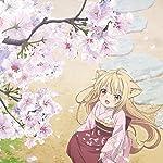 このはな綺譚 iPad壁紙 桜の花びらを集める柚(ゆず)