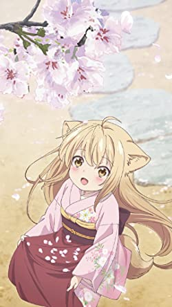 このはな綺譚の人気壁紙画像 桜の花びらを集める柚(ゆず)