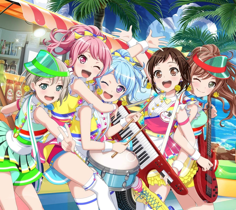 BanG Dream! 彩×モカ×リサ×花音×つぐみ HD(1440×1280)スマホ 壁紙・待ち受け