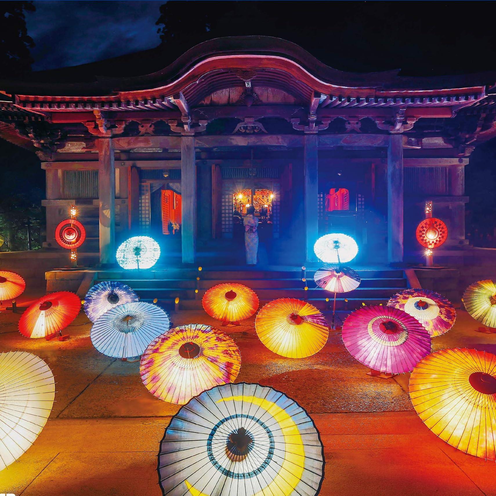 神社 Ipad壁紙 大山の夏祭り お盆の大献灯 その他 スマホ用画像