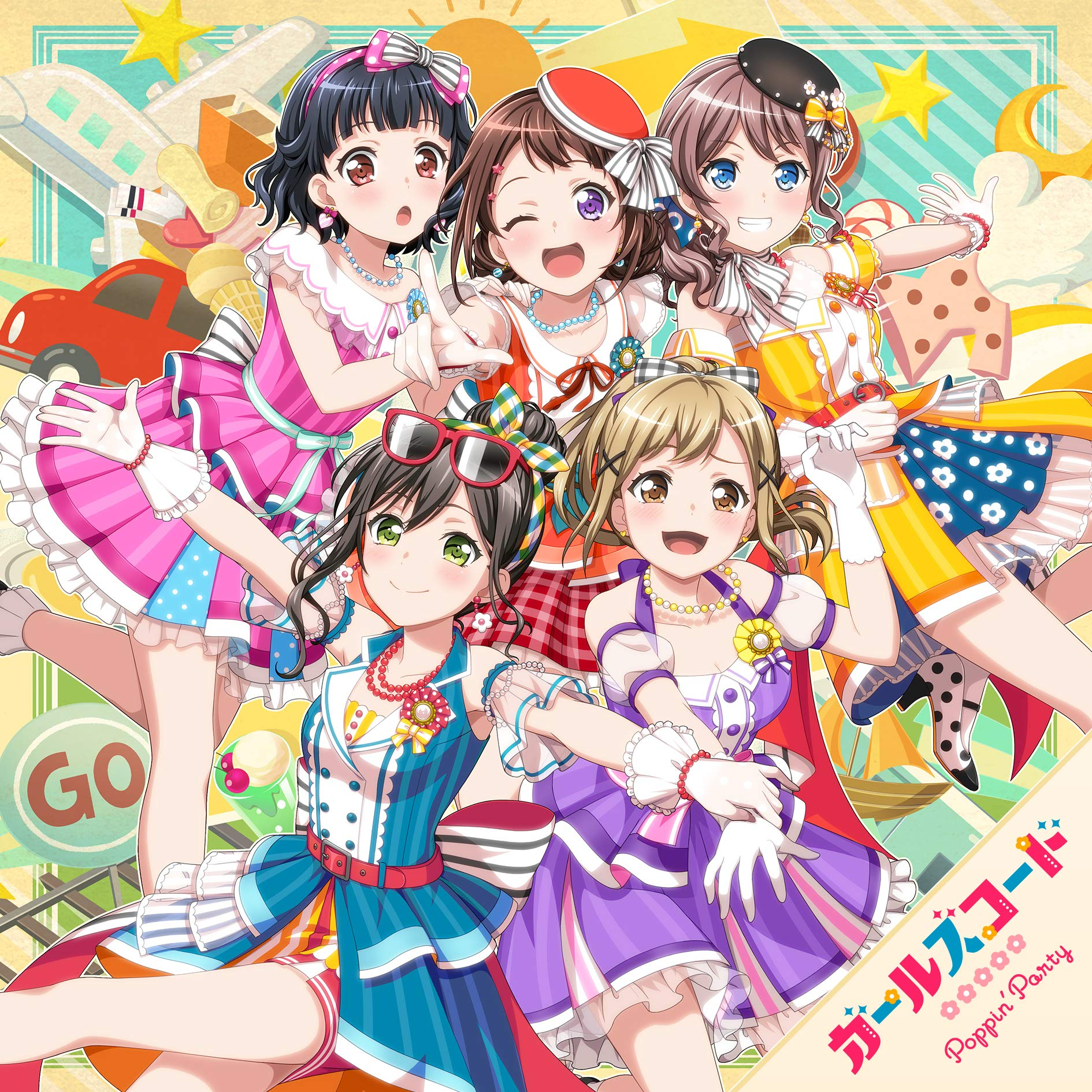 Bang Dream バンドリ Ipad壁紙 Poppin Party ガールズコード アニメ スマホ用画像931
