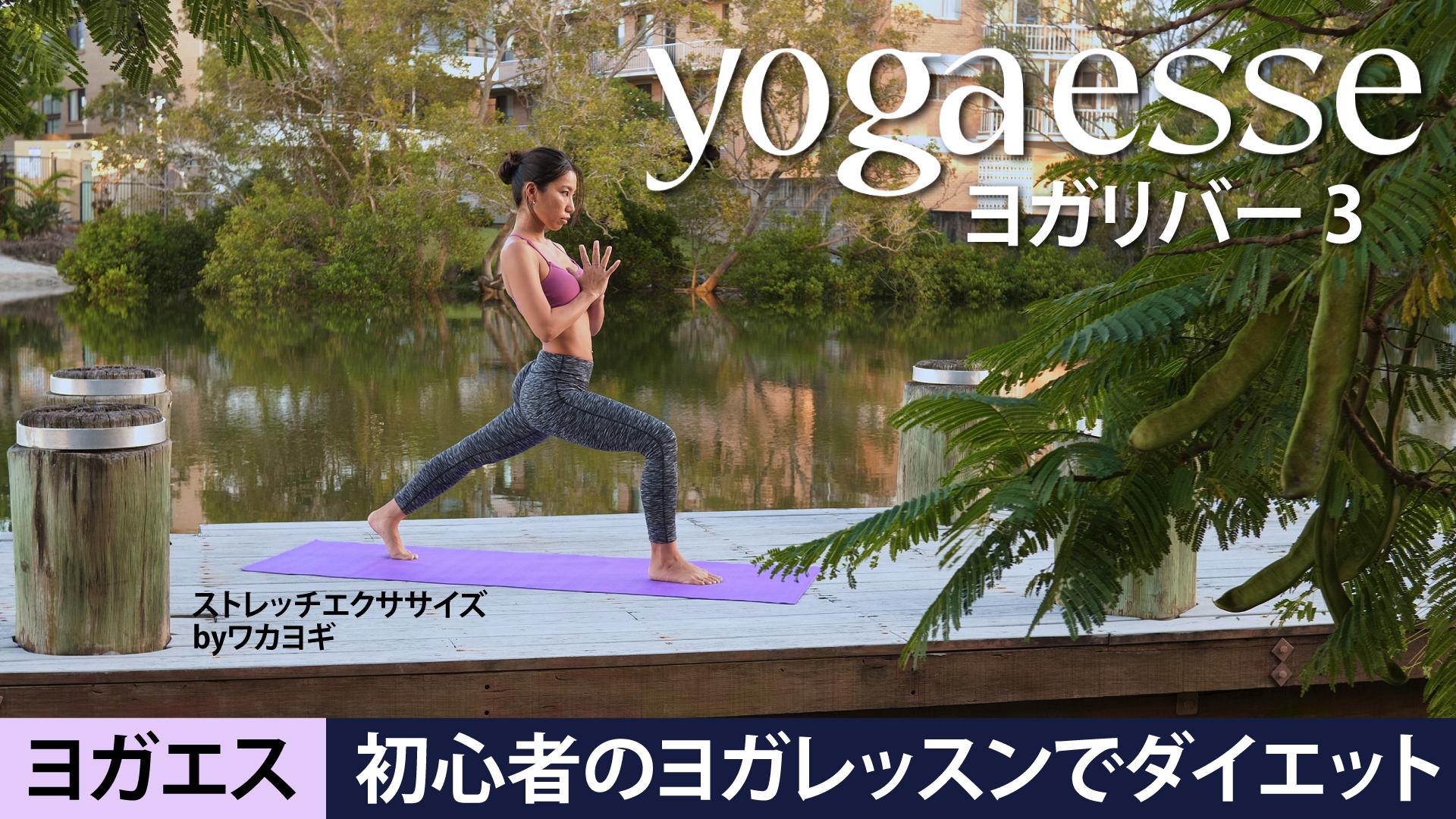 Yogaesse (ヨガエス) ヨガリバー 3 | 初心者のヨガレッスンでダイエット | ストレッチエクササイズ